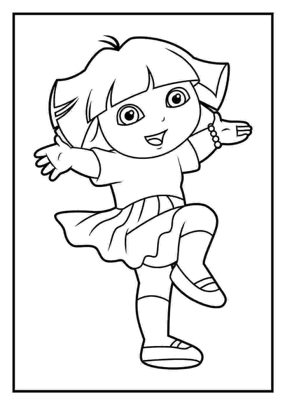 dora the explorer coloring dora coloring pages backpack diego boots swiper print explorer the dora coloring