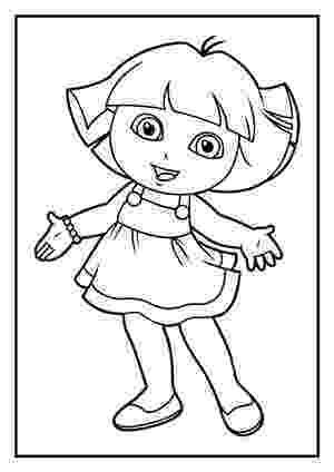 dora the explorer coloring free printable dora the explorer coloring pages for kids explorer the coloring dora