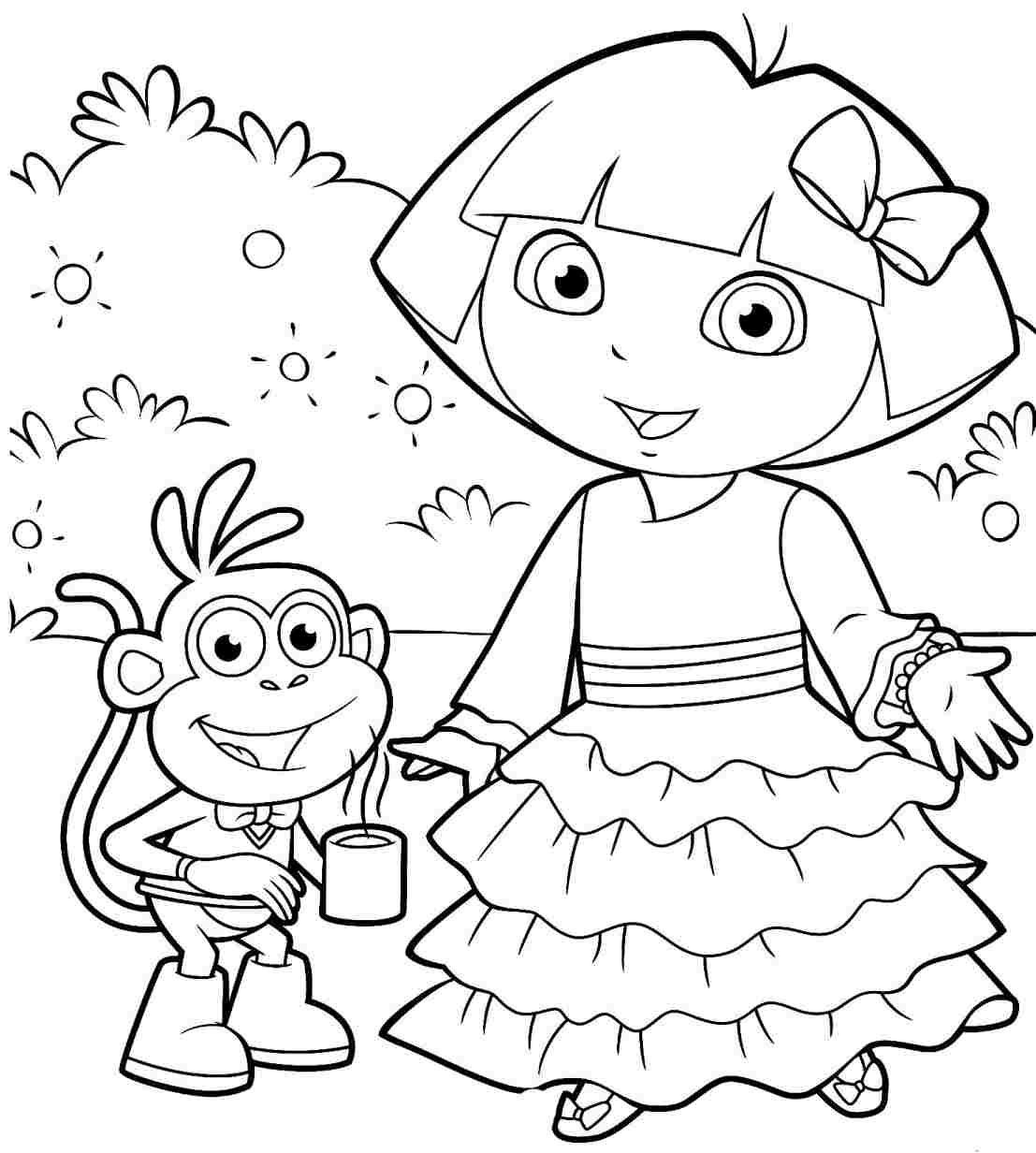 dora to color dora coloring pages only coloring pages dora color to