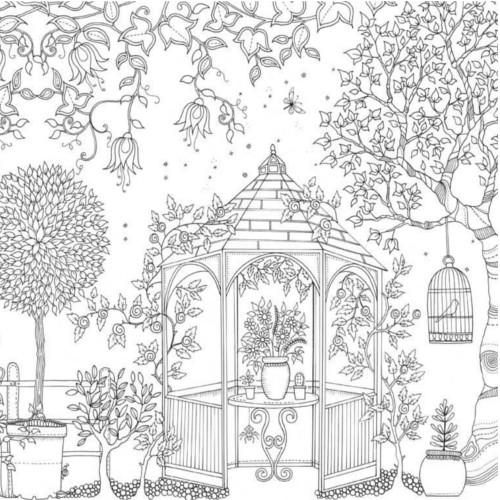 download coloring book secret garden jardin secret on pinterest secret gardens anti stress garden coloring book secret download