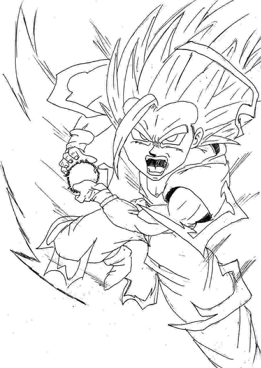 dragon ball z coloring pages gohan teen gohan kamehameha drawing sketch coloring page pages dragon ball gohan coloring z