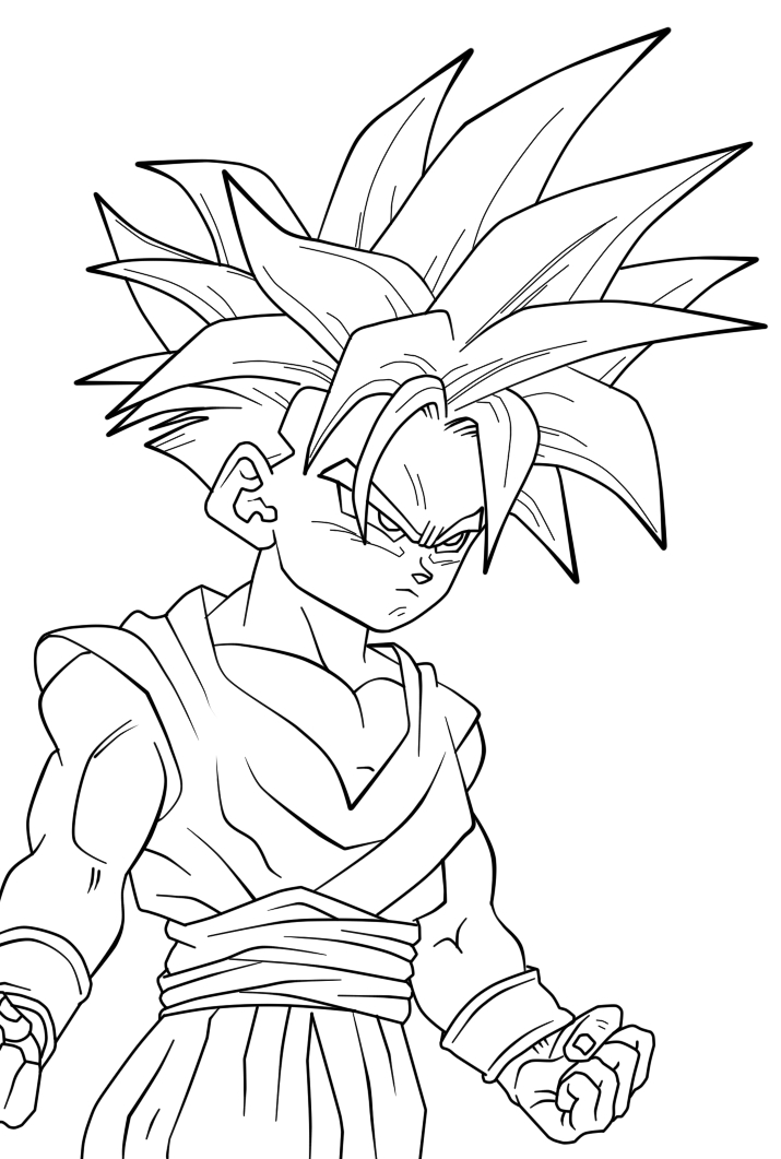 dragon ball z gohan coloring pages dbz gohan coloring pages sketch coloring page dragon gohan z ball pages coloring