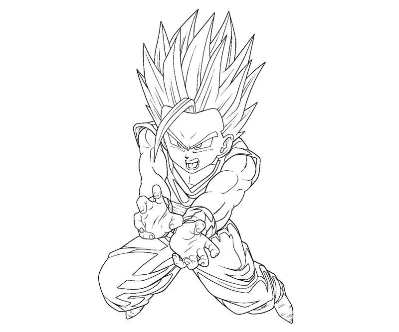 dragon ball z gohan coloring pages gohan coloring pages at getdrawingscom free for pages z coloring gohan ball dragon