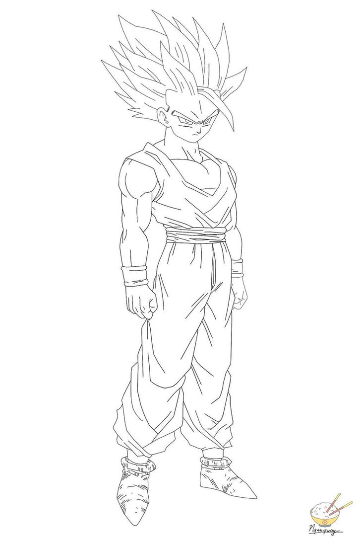 dragon ball z gohan coloring pages gohan coloring pages coloring home pages coloring dragon ball z gohan