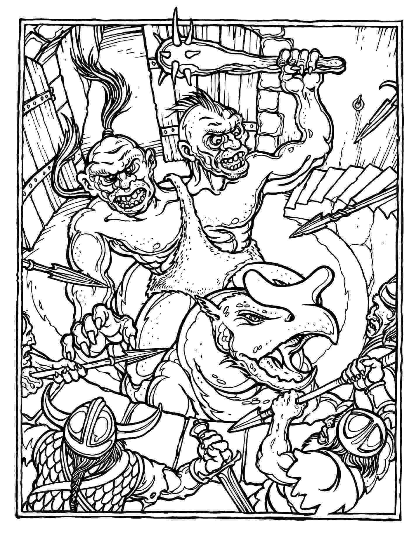 dragon coloring pages pdf monster brains the official advanced dungeons and dragons pages coloring dragon pdf