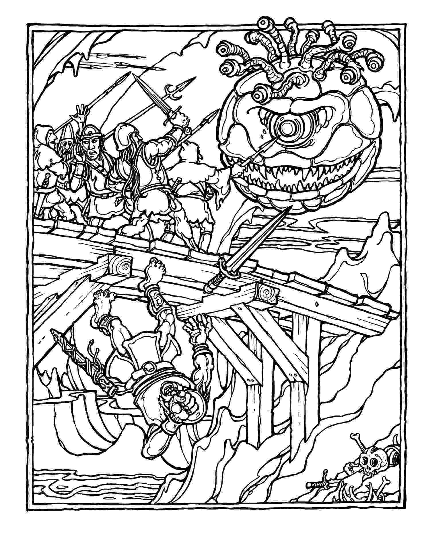 dragon coloring pages pdf monster brains the official advanced dungeons and dragons pages pdf dragon coloring
