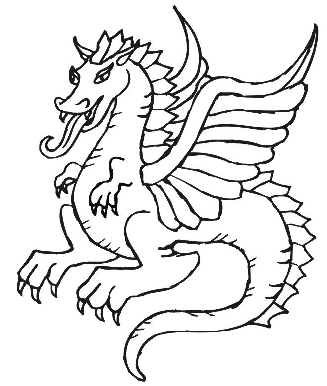 dragon images for kids dragon coloring pages free printables for kids gtgt disney for images dragon kids