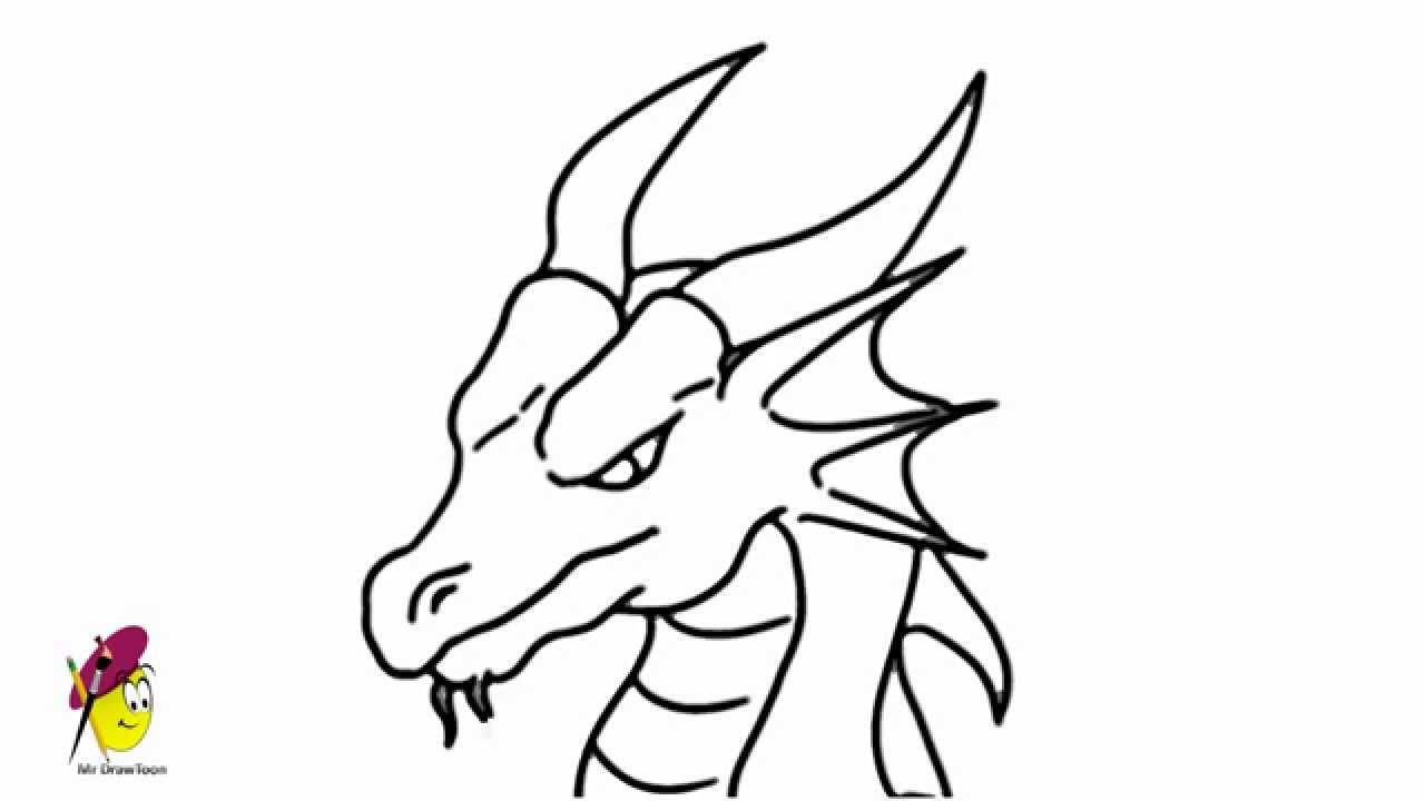dragon pictures to trace dragon face how to draw a dragon youtube to pictures dragon trace