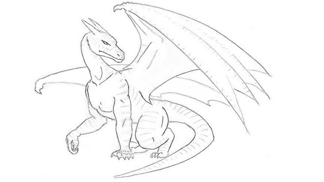 dragon pictures to trace how to draw a dragon step by step draw a dragon easy for dragon pictures to trace