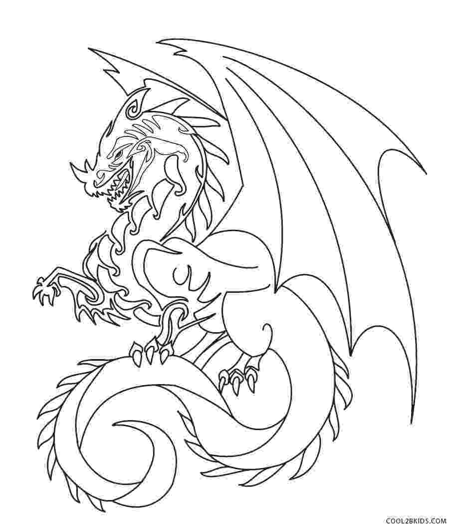 dragons to color printable dragon coloring pages for kids cool2bkids to dragons color