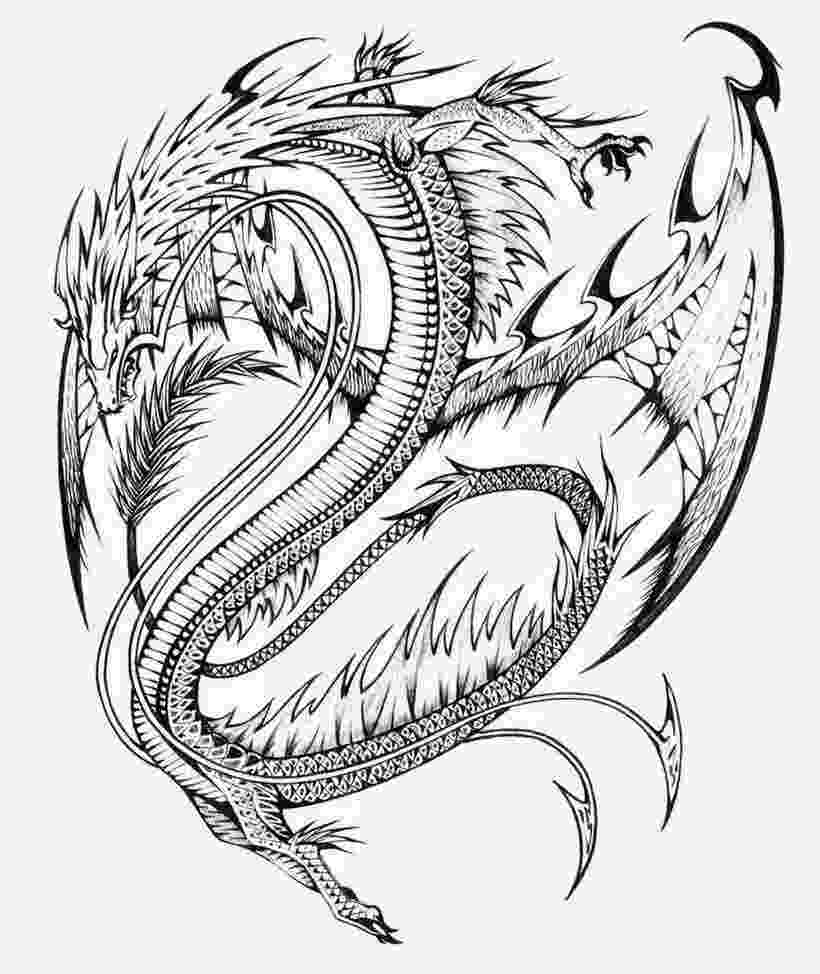 dragons to color realistic dragon coloring pages for adults coloring home dragons color to