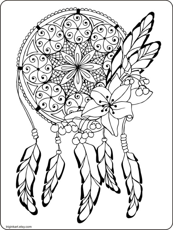 dream catcher coloring pages free printable dream catcher coloring page the graphics pages coloring dream catcher