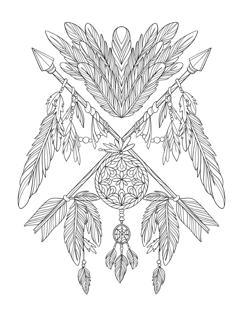 dream catcher coloring pages halloween dreamcatcher with voodoo doll and spider dream catcher pages coloring