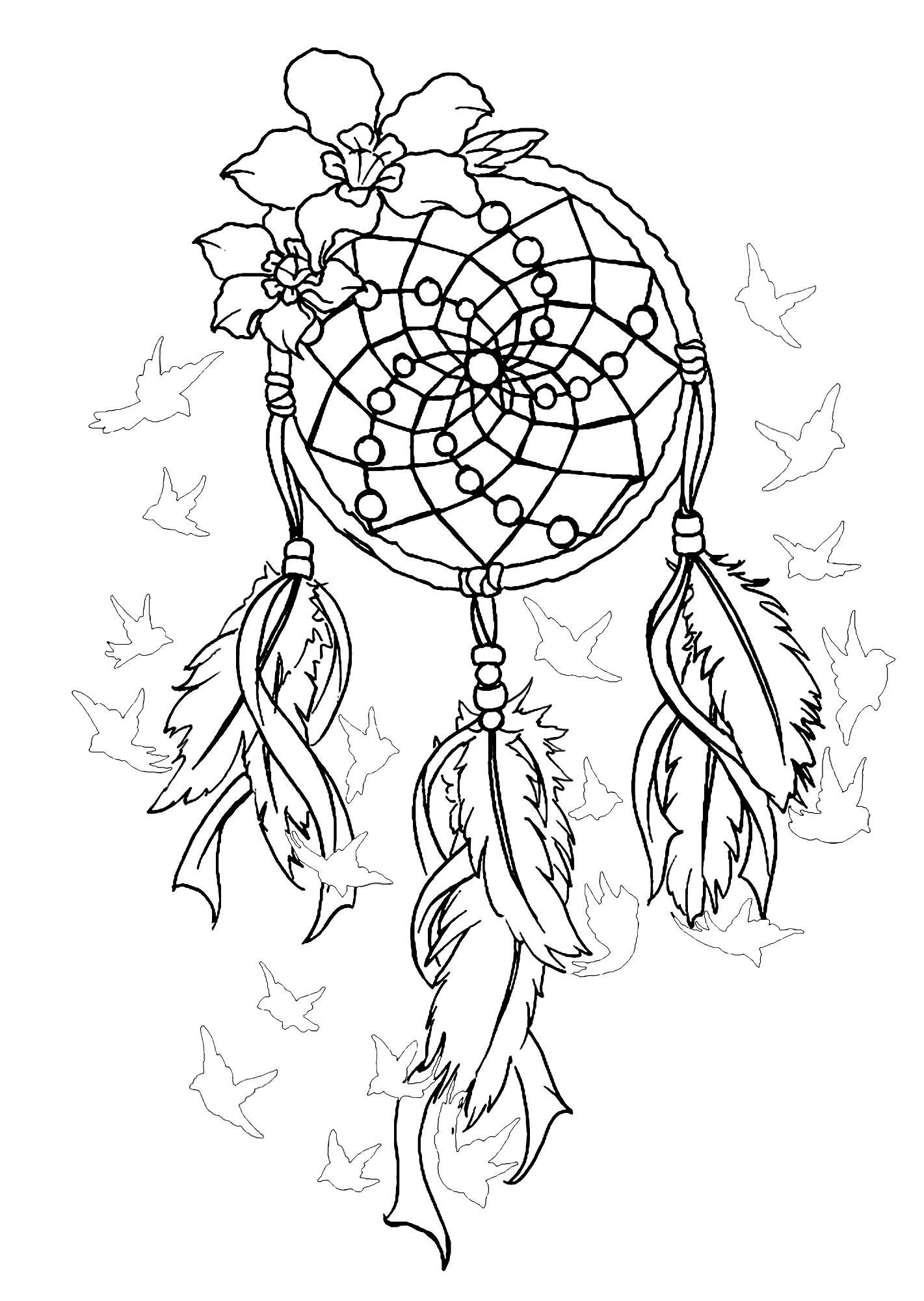 dream catcher coloring pages instant digital download dreamcatcher coloring page dream catcher coloring pages
