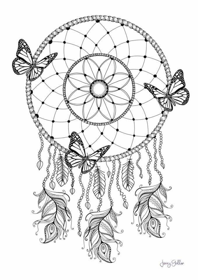 dream catcher coloring pages lace dream catcher coloring page instant download print your catcher dream coloring pages