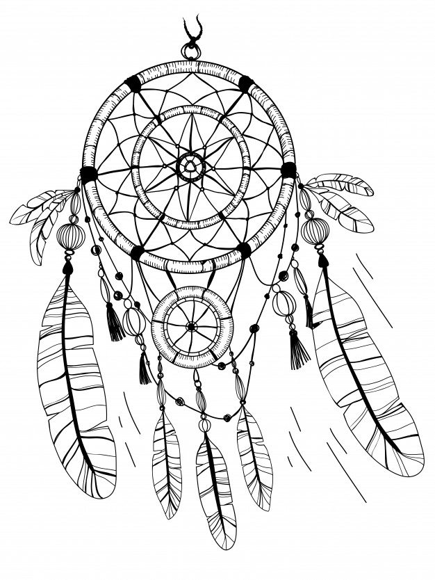 dream catcher coloring pages native american dreamcatcher coloring page free pages catcher dream coloring