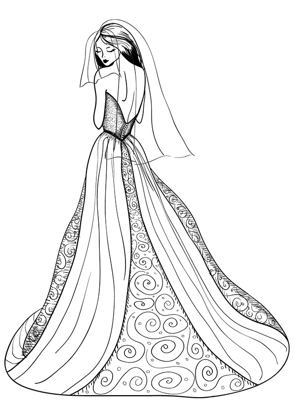 dress coloring pages to print ball gown coloring page for girls printable free print coloring dress pages to