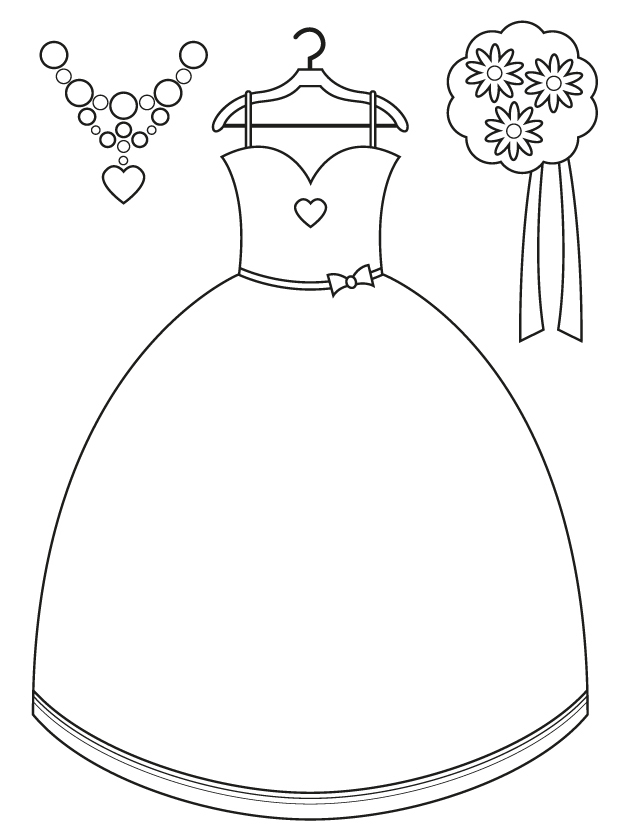 dress coloring pages to print girl dress coloring page print to pages coloring dress
