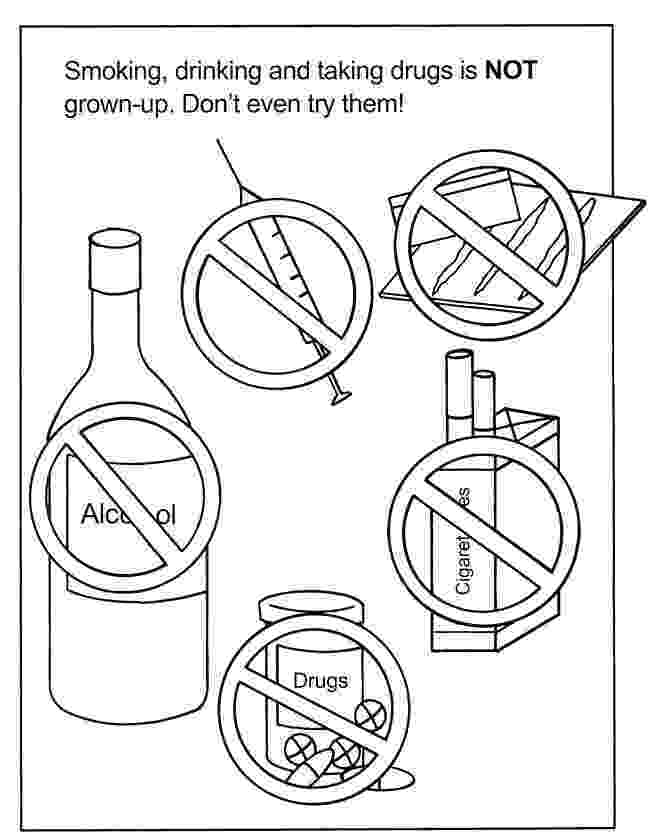 drug free coloring pages lesson plan notes red ribbon week free drug pages coloring