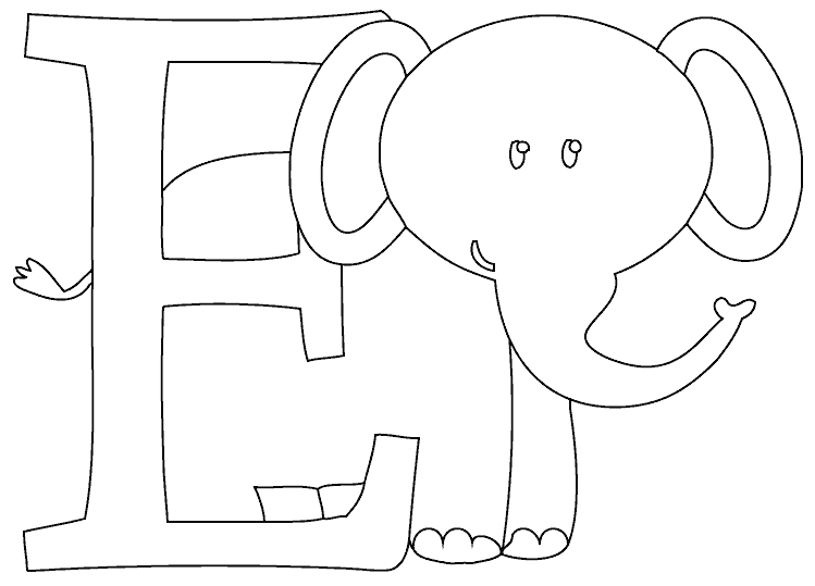 e is for elephant coloring page e is for elephant coloring page coloringcom is elephant coloring e page for