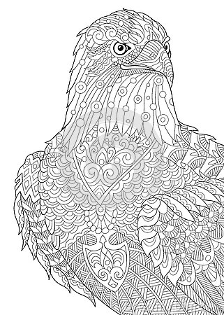 eagle adult coloring pages the black and white eagle print with ethnic patterns pages coloring eagle adult