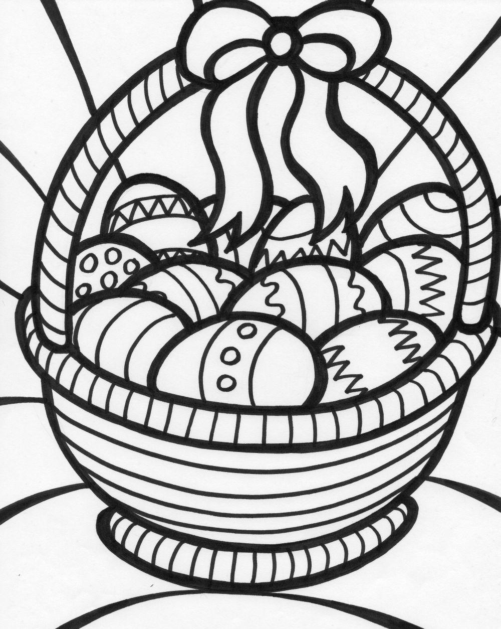 easter basket coloring pages 7 easter basket with eggs coloring pages coloring pages easter basket