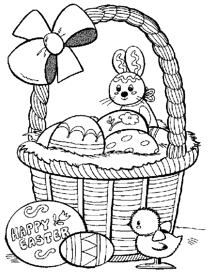 easter basket coloring pages easter basket coloring pages getcoloringpagescom easter basket coloring pages