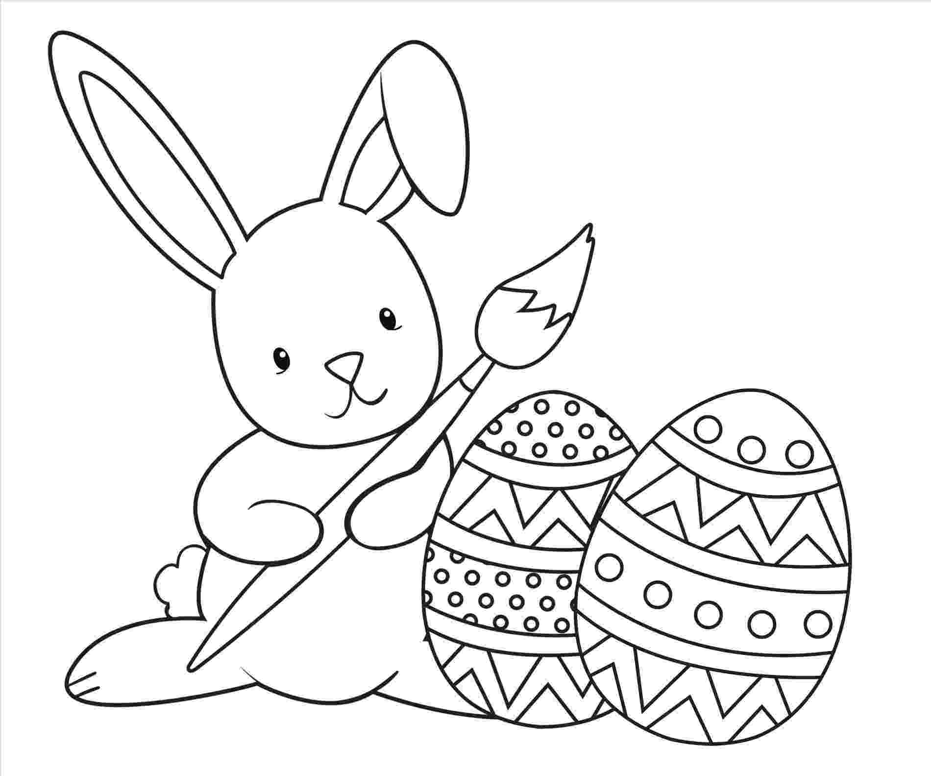 easter bunny coloring sheet bunny line drawing at getdrawingscom free for personal coloring sheet bunny easter
