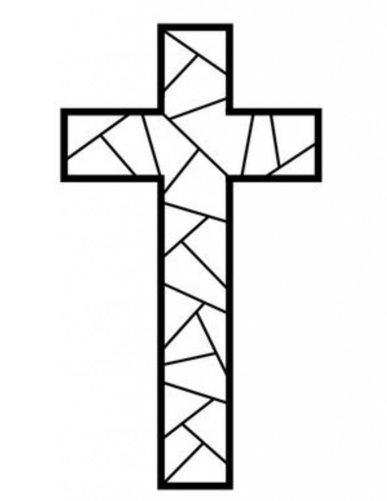 easter cross coloring page cross coloring pages getcoloringpagescom coloring cross easter page