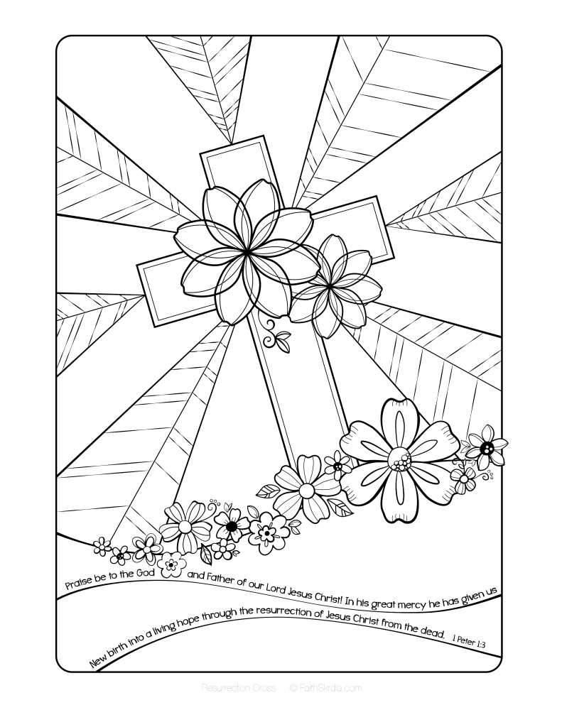 easter cross coloring page easter bible coloring pages christian preschool printables page easter cross coloring