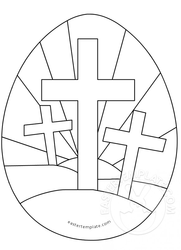 easter cross coloring page easter egg with three crosses coloring page easter template cross page coloring easter