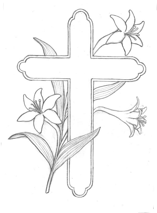 easter cross coloring page free spring summer coloring pages from craft elf easter coloring page cross