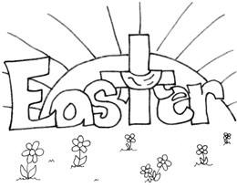 easter cross coloring page sam and mary39s family page happy easter he is risen easter page coloring cross