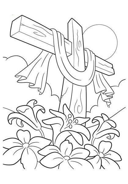 easter cross coloring page top 10 free printable cross coloring pages online easter cross page coloring