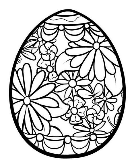easter egg color page easter egg coloring pages easter egg color page