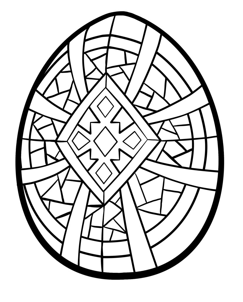 easter egg color page easter eggs colouring pics page color easter egg
