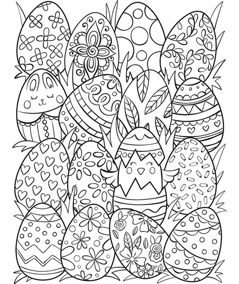 easter egg color page sweet and sunny spring easter coloring pages page easter egg color