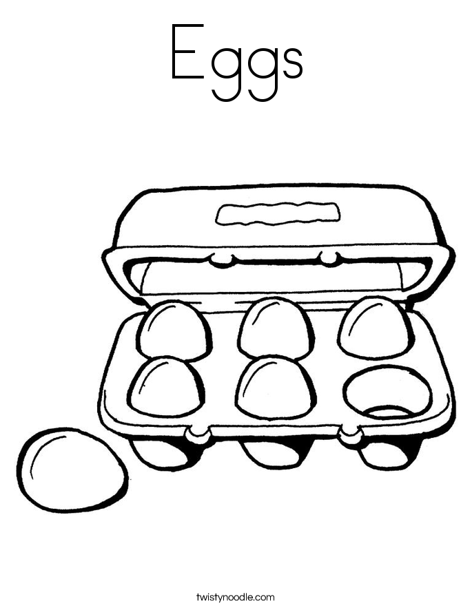 eggs coloring page six eggs coloring page twisty noodle page coloring eggs