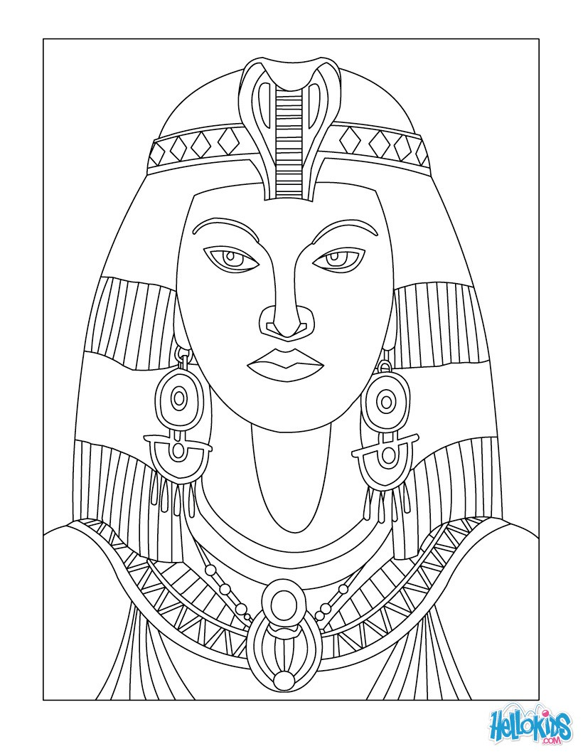 egyptian coloring pages printable cleopatra queen of egypt for kids coloring pages pages egyptian coloring printable