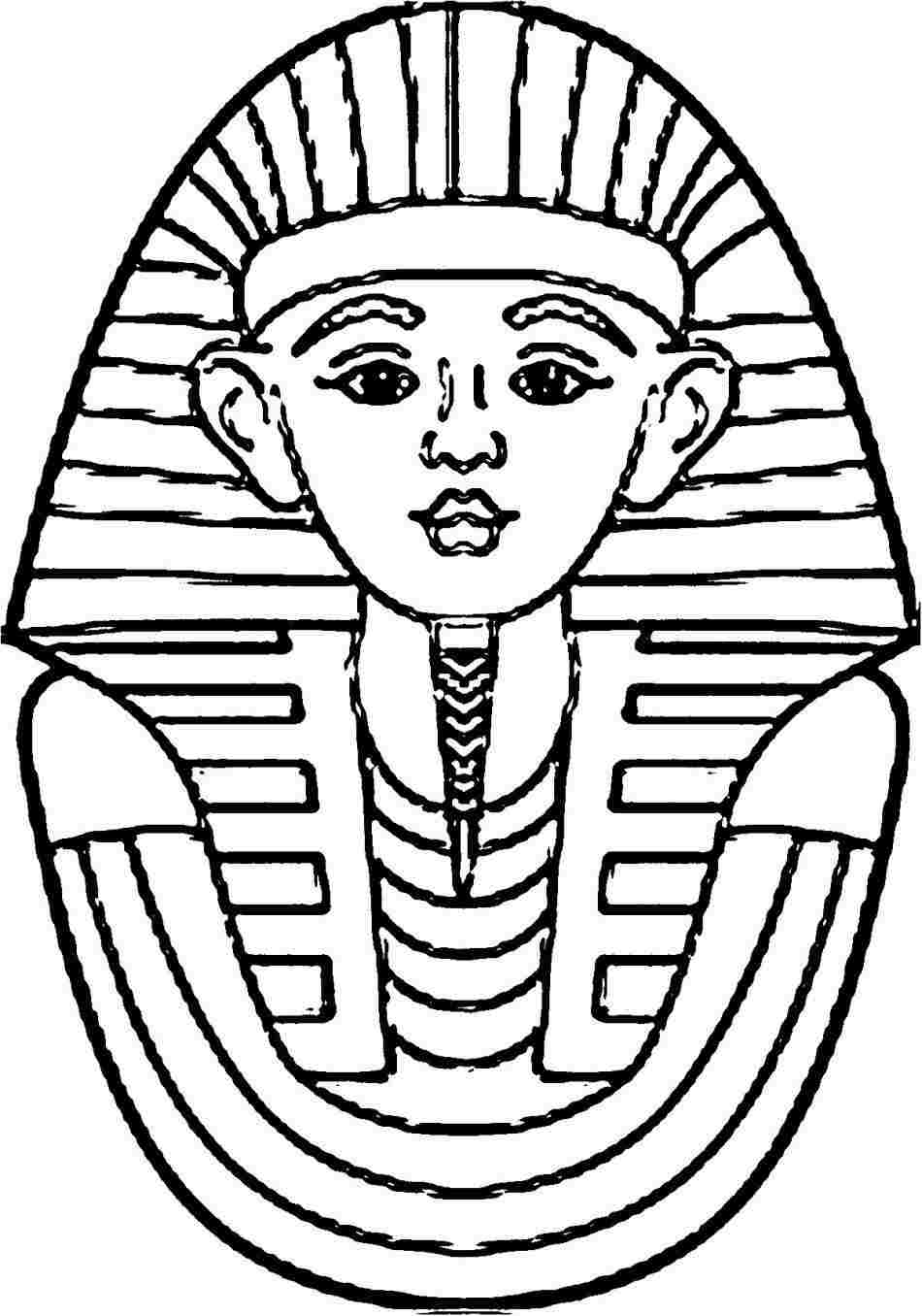 egyptian coloring pages printable egyptian pharaoh drawing at paintingvalleycom explore coloring pages egyptian printable