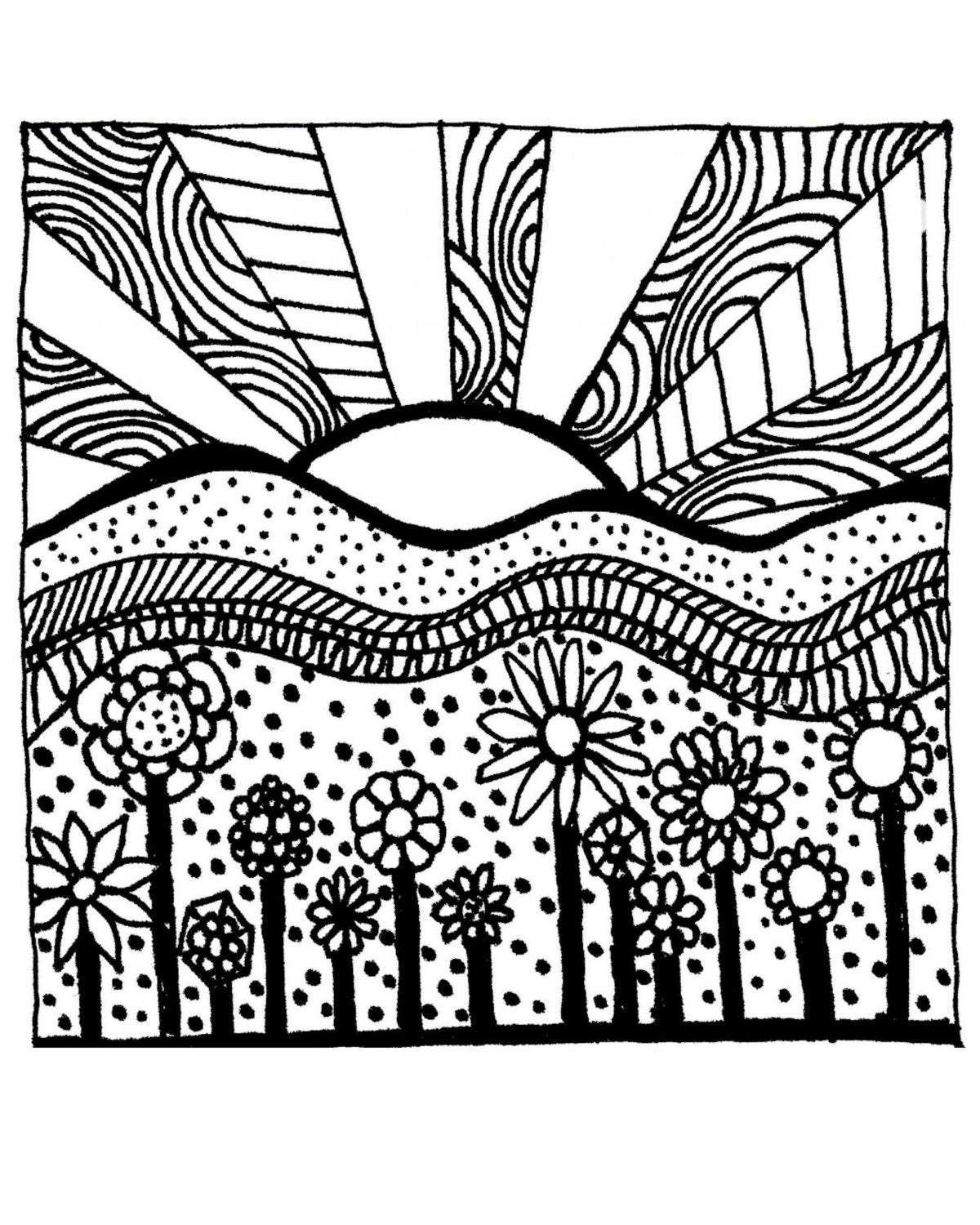 electronic coloring book for adults adult colouring pagecirlces and swirls original digital adults coloring electronic for book