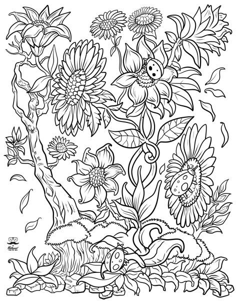electronic coloring book for adults floral fantasy digital version adult coloring book electronic adults coloring book for