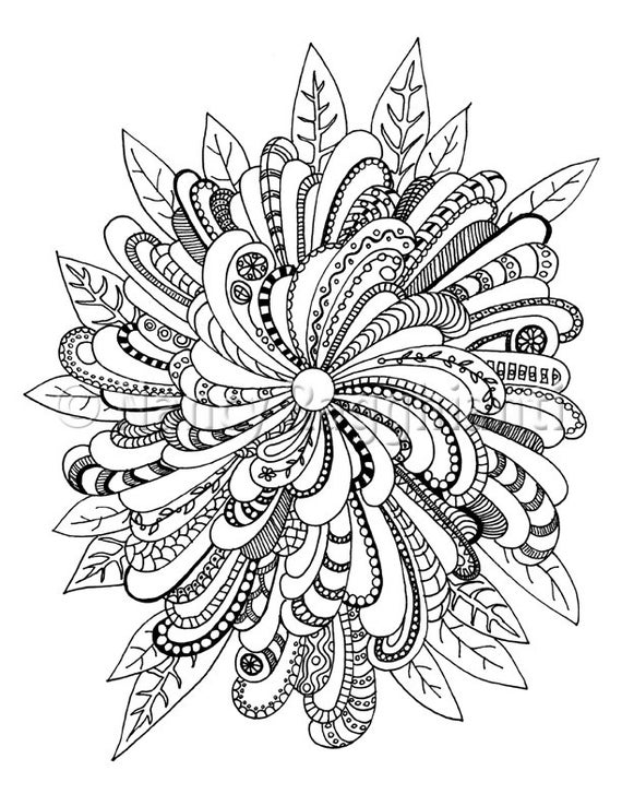 electronic coloring book for adults printable coloring page digital download floral mandala ish adults coloring electronic book for