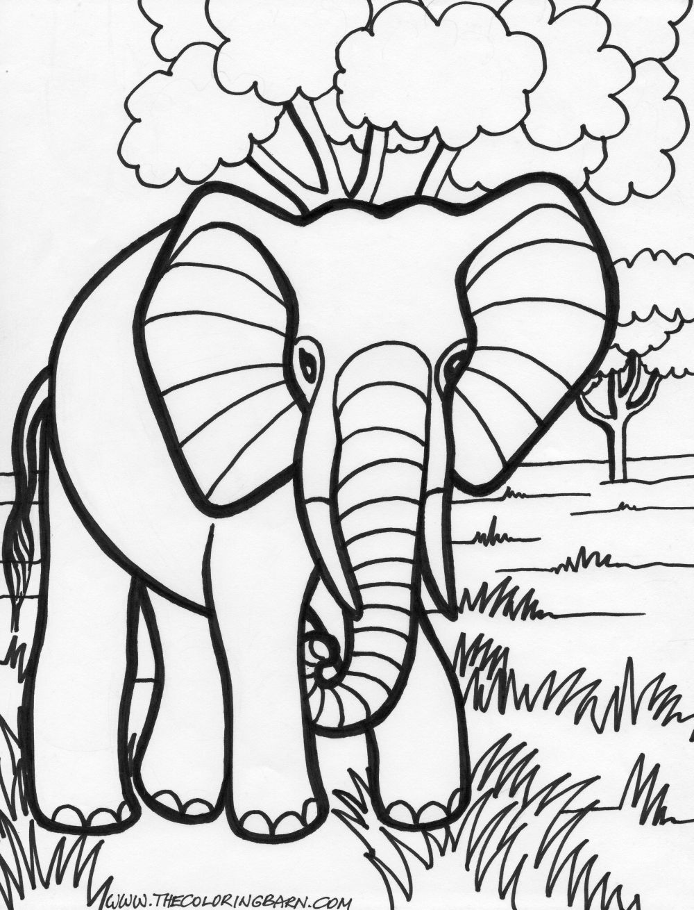 elephant coloring page baby elephant coloring pages getcoloringpagescom elephant coloring page