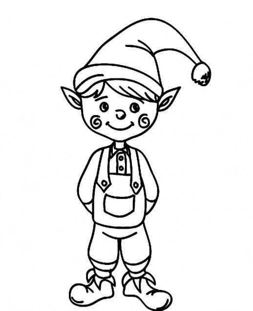 elf coloring pictures cute christmas elf coloring page free printable coloring coloring pictures elf