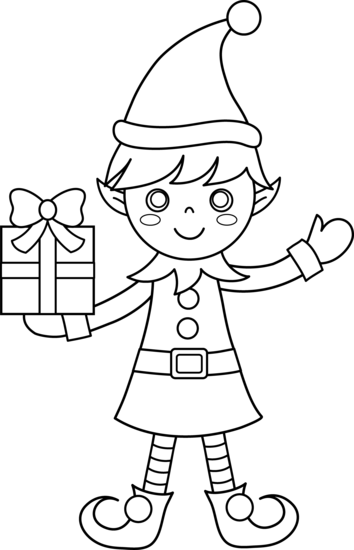 elf coloring pictures dibujo de duende bonito de navidad para colorear dibujos coloring pictures elf
