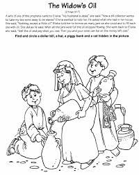 elijah and the widow coloring page widow and oil colouring pages elisha and the widow coloring page and widow elijah the