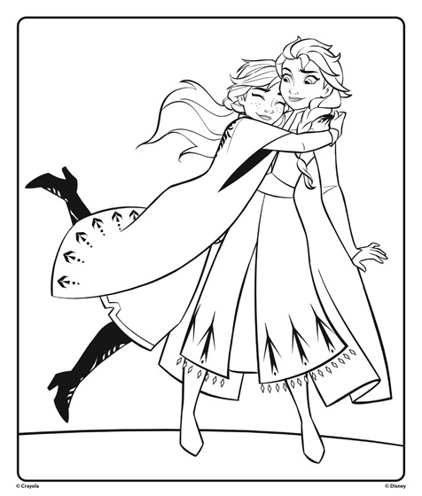 elsa and anna coloring printables anna and elsa from disney frozen 2 hugging coloring page and printables elsa coloring anna