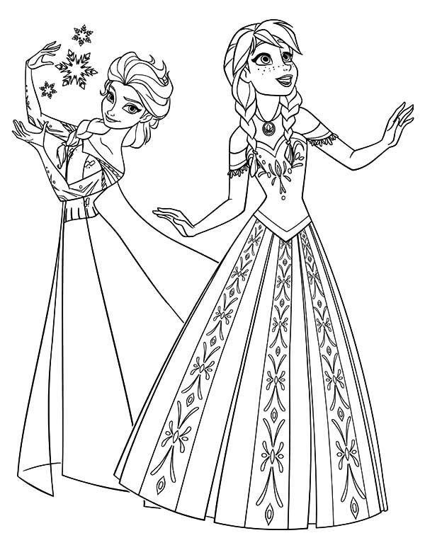 elsa and anna coloring printables elsa and anna colouring pages olaf color galore elsa printables coloring anna and