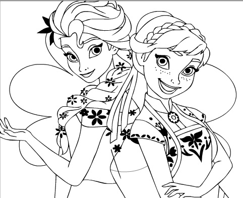 elsa and anna coloring printables frozen anna and elsa playing in a winter wonderland elsa printables anna and coloring